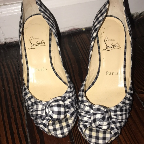 37b665476c5a 69% off Christian Louboutin Shoes - EUC size 6 navy check Christian  Louboutin pumps from Mom s closet on Poshmark. christian louboutin pigalle  120 ...